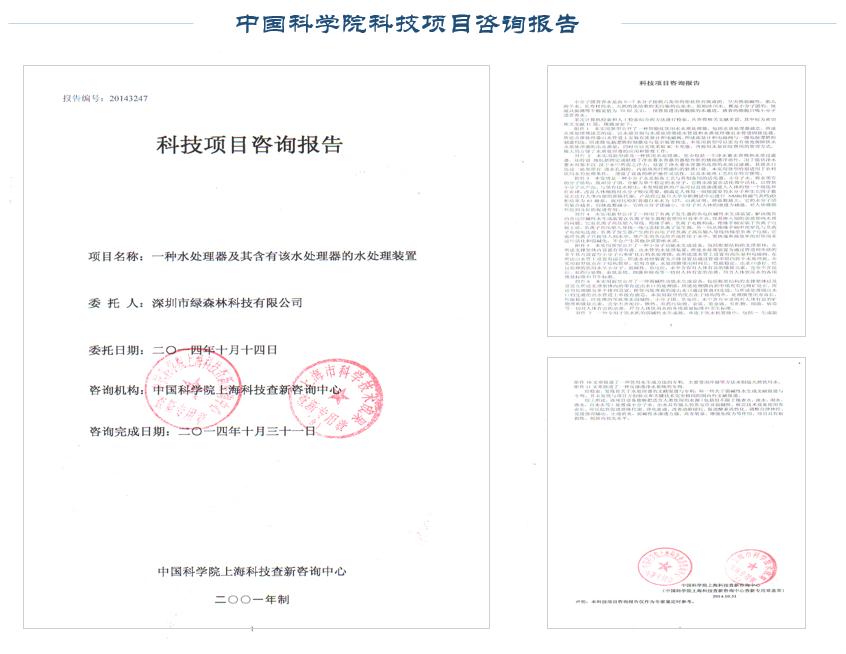 中国科学院科技项目咨询报告